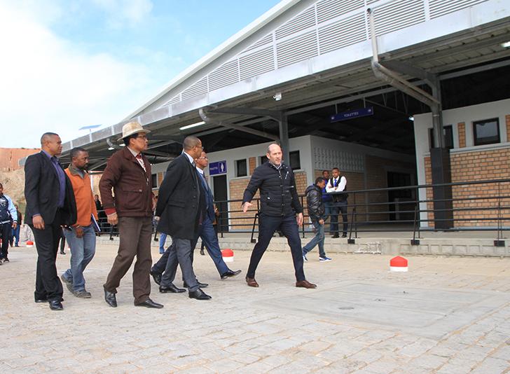 Visite de la nouvelle gare routière d'Ambohimanambola-9